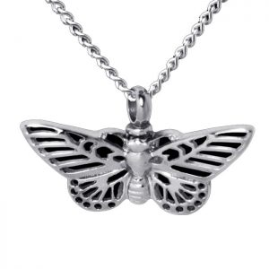 Butterfly Cremation Necklace Cremains Vessel