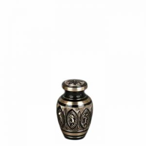 Moderne Brass Keepsake Black Gold Urn
