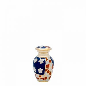 Old Glory Brass Patriotic Keepsake Urn