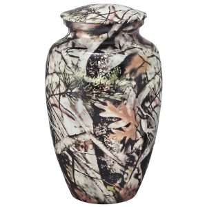 OKC Forest Lore camoflauged urn