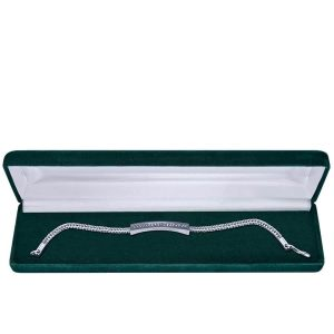 Oklahoma City Cremation Jewelry: Slimline Bracelet in green case