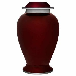 Oklahoma city Cremation urn, red Artesia