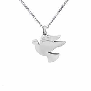 Oklahoma City Cremation Jewelry: Dove necklace