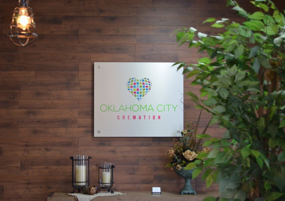 Oklahoma City Cremation Entrance Sign